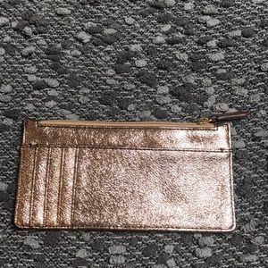Shiny metallic wallet